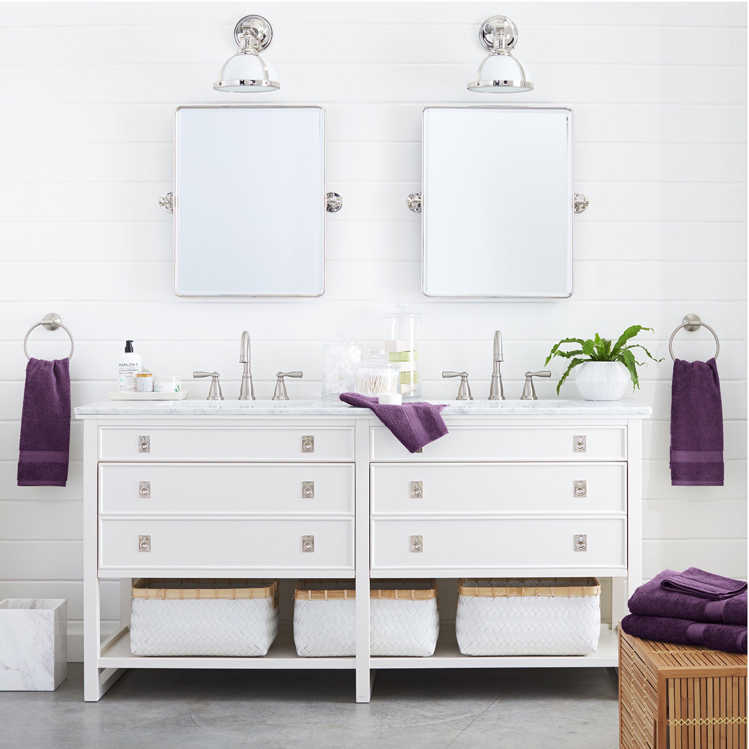 Pinzon 6 Piece Blended Egyptian Cotton Bath Towel Set Plum