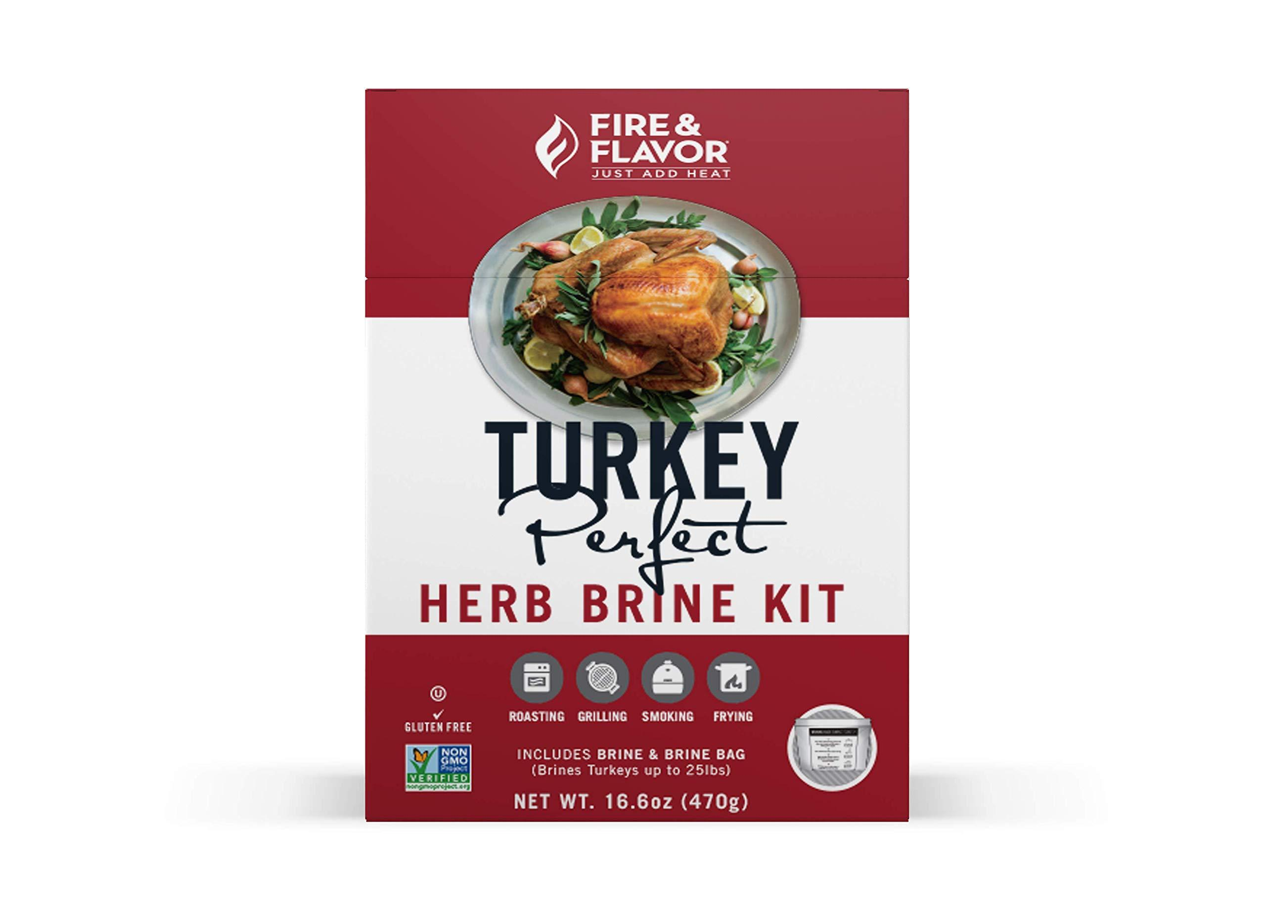 Fire & Flavor All Natural Turkey Perfect Herb Brine Kit, Perfect for Roasting, 885370134827