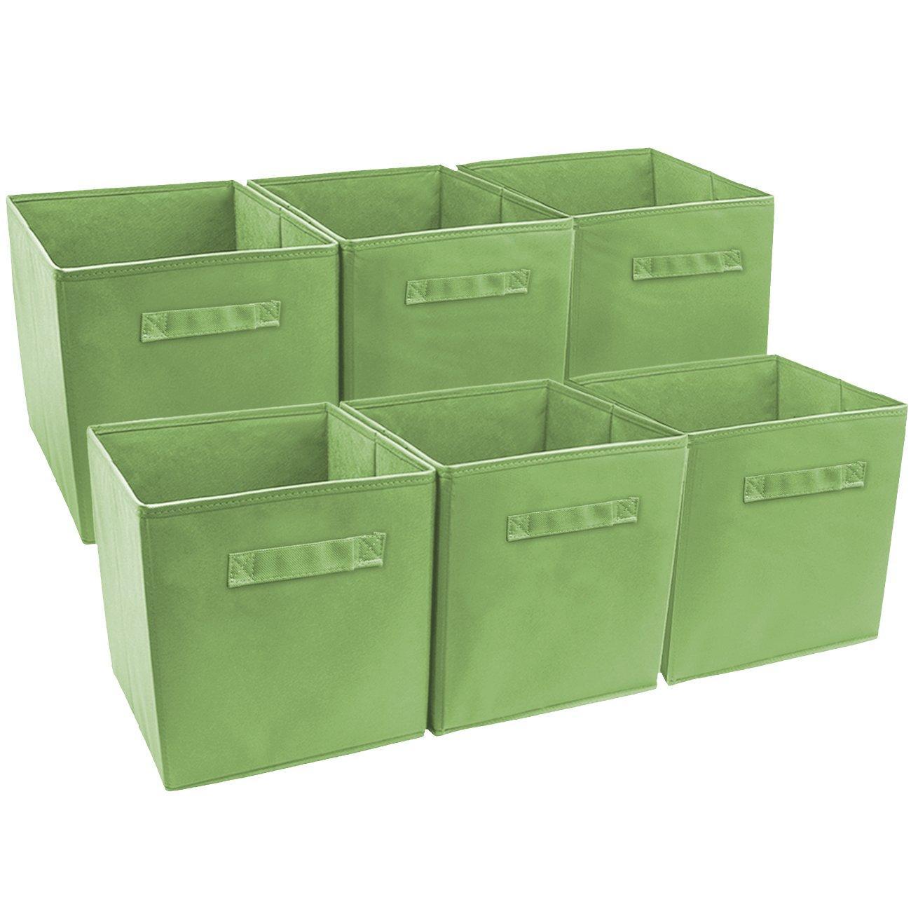 Pastel Multi-Color, 6 Pack Sorbus Foldable Storage Cube Basket Bin